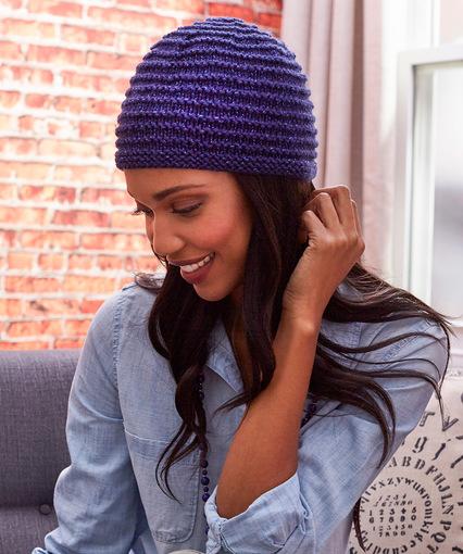 Ridgeway Sparkle Hat free knit pattern