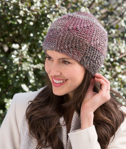 free mitered hat knitting pattern