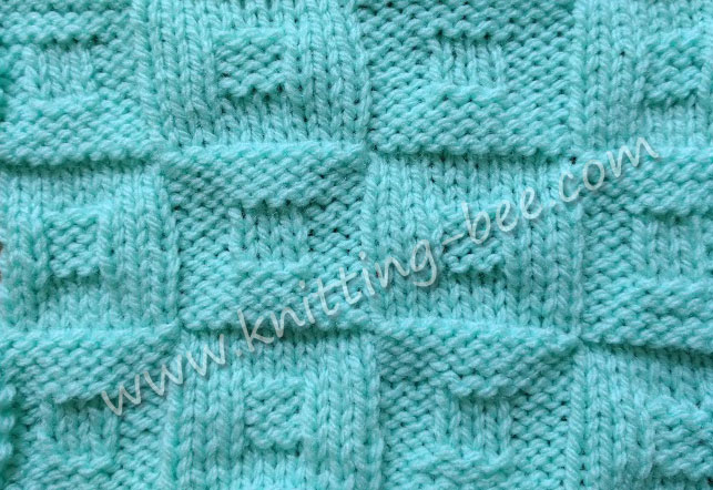 Square in a Square Checkerboard Knitting Stitch http://www.knitting-bee.com/