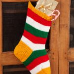 Striped Holiday Stocking Free Knit Pattern