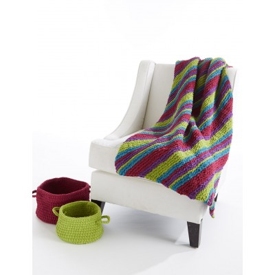 easy striped knee rug knitting pattern