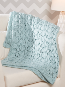 lace knee rug knitting pattern