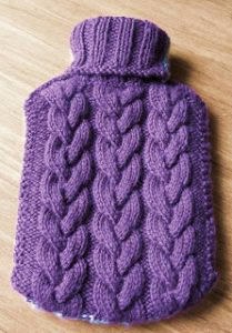 Toasty - Cabled Hot Water Bottle Cover