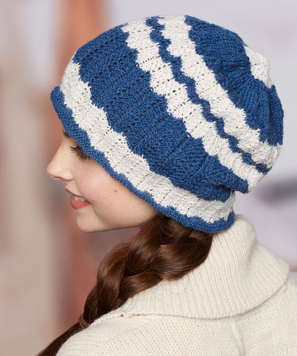 wavy hat free knitting pattern