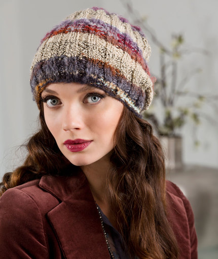free easy ribbed hat knitting pattern
