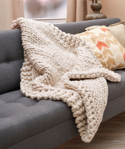 chunky knee rug knitting pattern