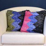 Zig Zag Pillows Free Knitting Pattern