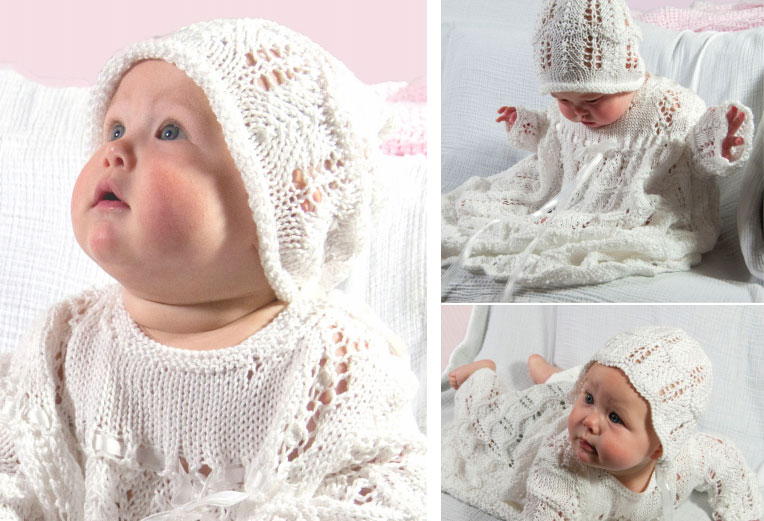 Christening set free pattern to knit