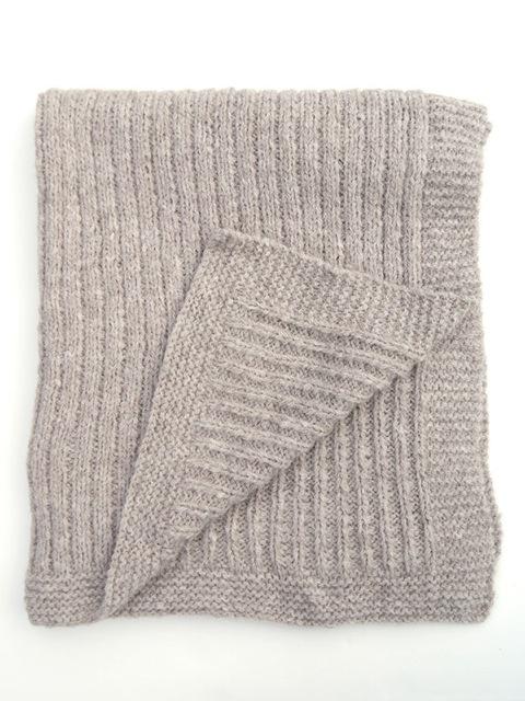 rib stitch knee rug pattern