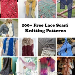 100+ Free Lace Scarf Knitting Patterns You'll Adore http://www.knitting-bee.com/