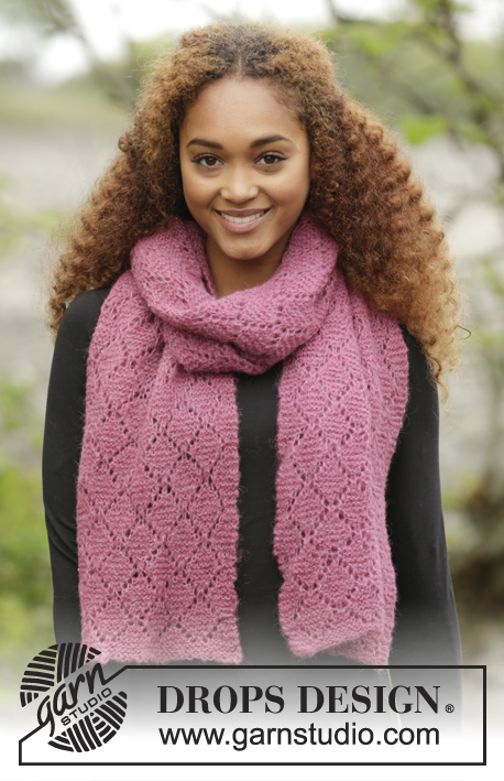 free lac scarf knitting pattern