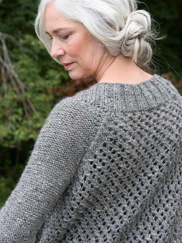 Battine Open Work Knit Cardigan Free Pattern