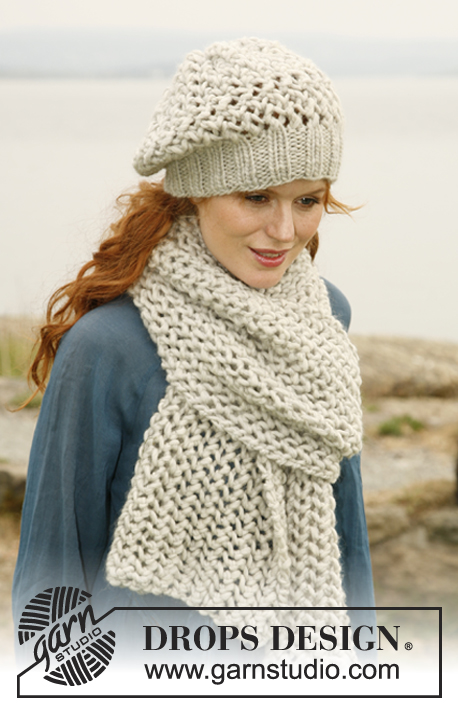 Bohemian Rhapsody Free Lace Hat and Scarf Knitting Pattern Set