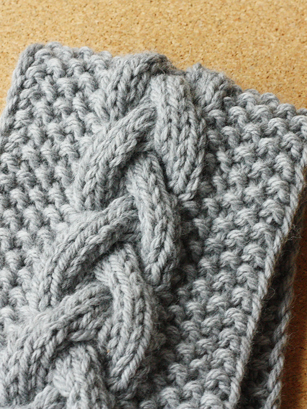 Cable and Seed Stitch Headband Free Knit Pattern