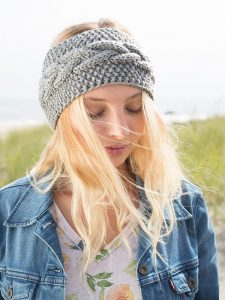 Cable and Seed Stitch Headband Free Knit Pattern