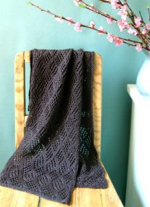 Checkerboard Lace Scarf free knitting pattern