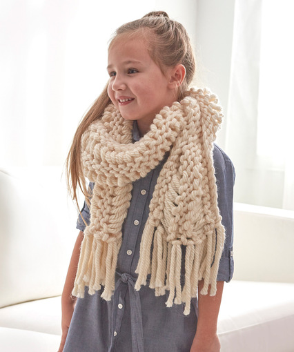 Drop Stitch Scarf Bulky Yarn Knitting Pattern Free