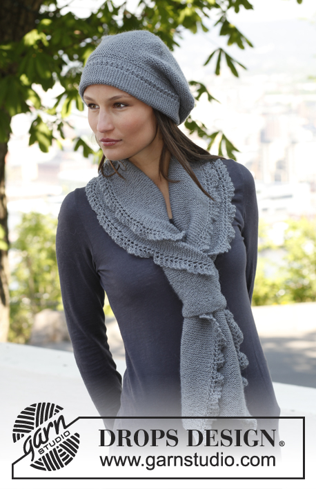 Emily Free Lace Scarf and Hat Knitting Pattern