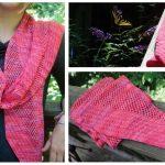Fiona mesh lace motif with a diagonal rib