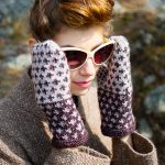 Fox Grape Fair Isle Mittens Free Knitting Pattern