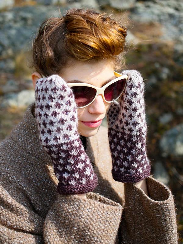 Fox Grape Fair Isle Mittens Free Knitting Pattern Knitting Bee