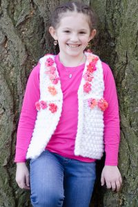 Girl's Daisy Chain Vest Free Knitting Pattern