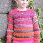 Girl's Sunset Pullover Free Knitting Pattern