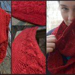 Hannah leaf pattern infinity scarf free knit