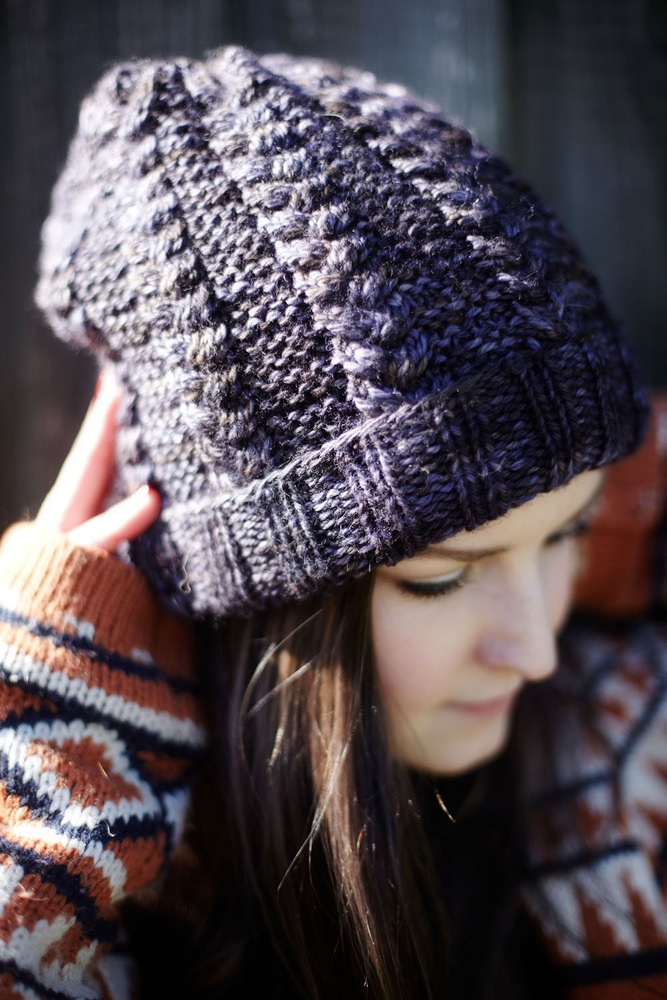 Knitting Beanie Patterns : Hipster sister braided beanie knit pattern knitting bee