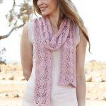 Honey rose lace leaf stitch scarf pattern knit