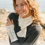 Lace Scarf and Wrist Warmers Free Knitting Pattern