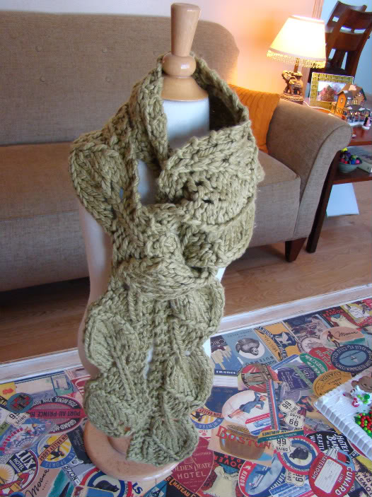 Leaf Free Pattern For A Knit Scarf Knitting Bee