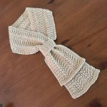 Leather Ring Feather and Fan Ripple Stitch Scarf
