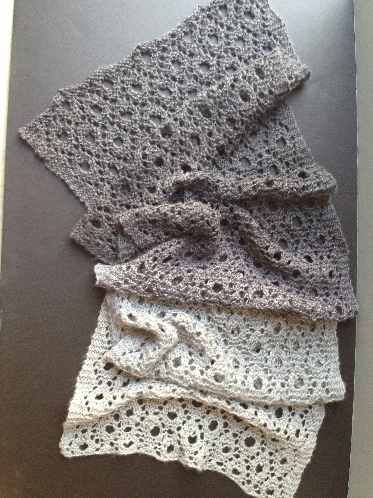 Reversible Circles of Lace Free Scarf Pattern