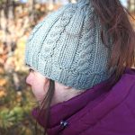 Riva Bun Hat Free Cabled Knitting Pattern