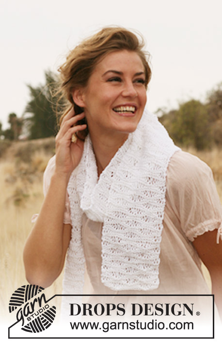 Seafoam Stitch Scarf Knitting Pattern Free