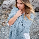 Shells & tide free lace shawl knitting pattern