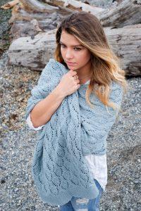 Shells & tide free lace shawl knitting pattern