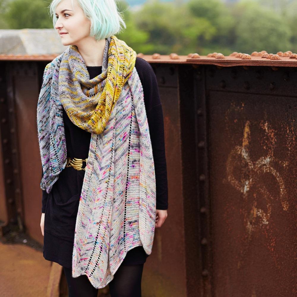 Shockwaves Free Scarf Knitting Pattern
