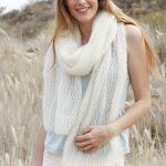 Soft embrace free lace scarf knitting pattern