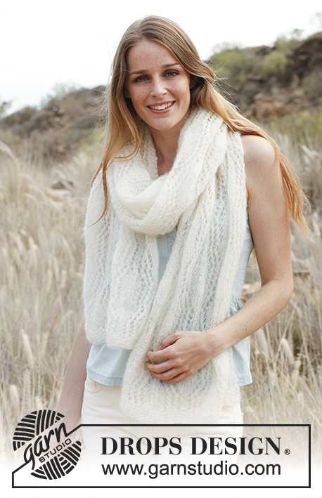 Soft embrace free lace scarf knitting pattern