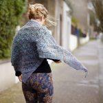 Viaduct hallow triangle shawl free knitting pattern
