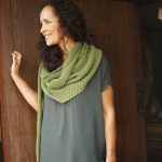 Vine Twisted Stitch Intermediate Shawl Free Knitting Pattern