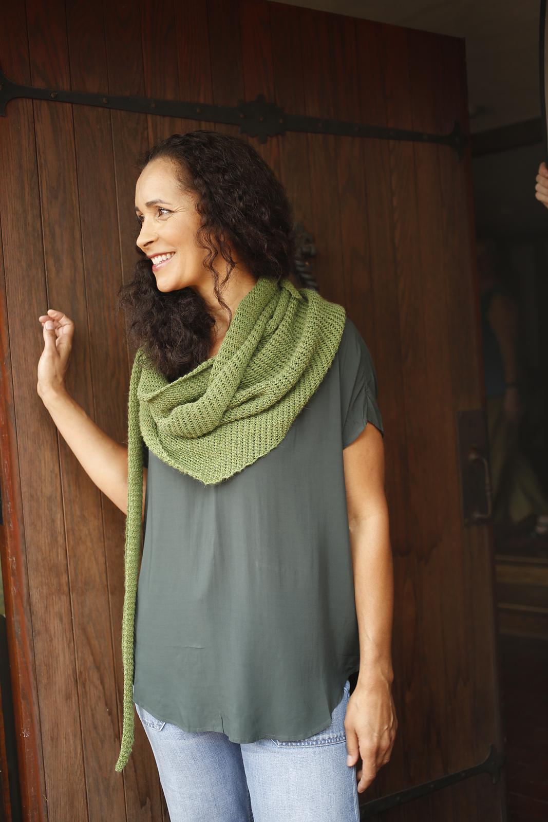 Vine Twisted Stitch Intermediate Shawl Free Knitting Pattern ...