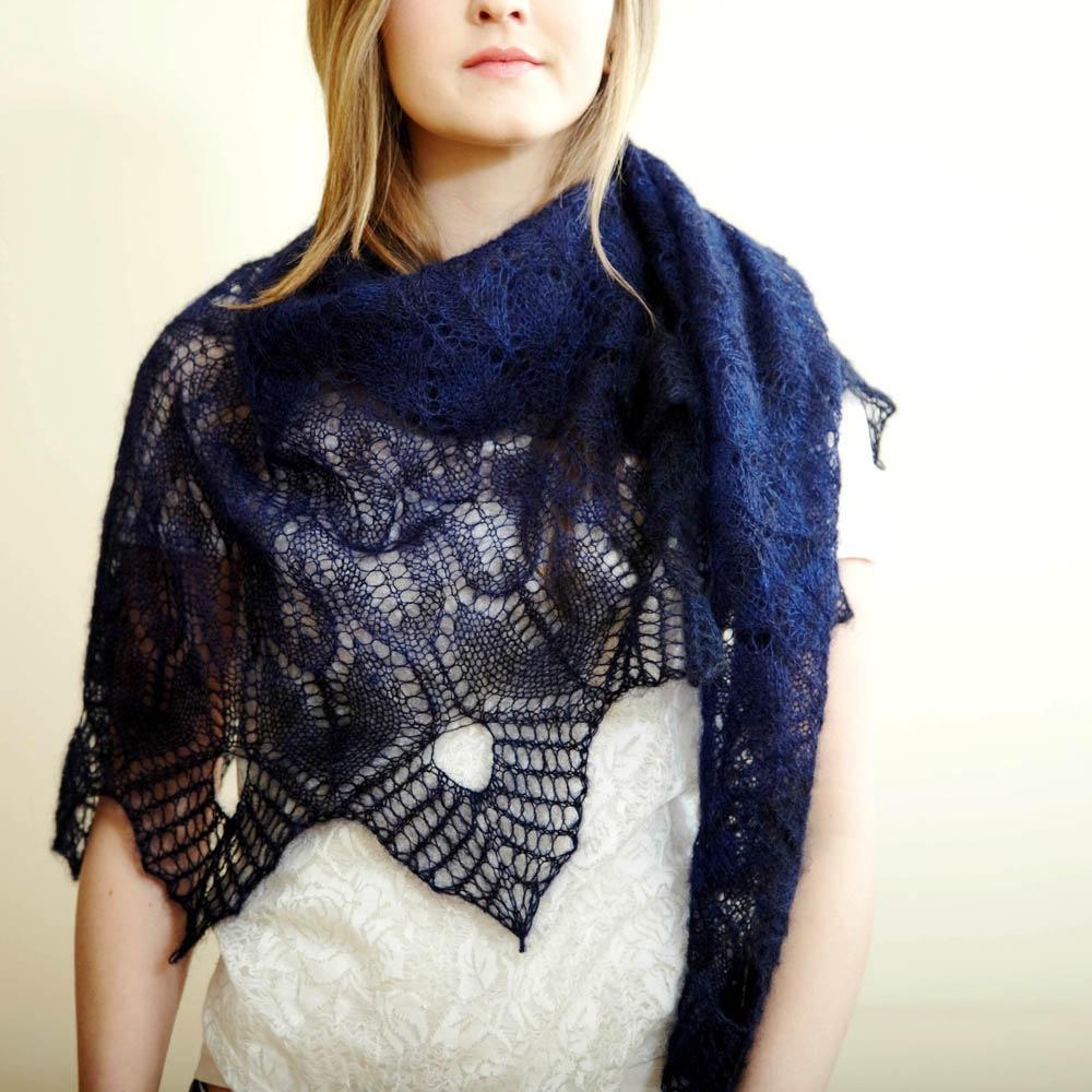 Winter Thaw Free Lace Shawl Knitting Pattern ⋆ Knitting Bee