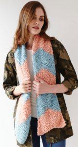 Debbie Bliss Bulky Chevron Scar Free Knitting Pattern