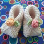 Folded Garter Stitch Booties for Baby to Knit