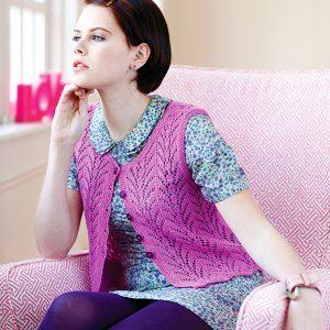 La Fontaine Free Lace Waistcoat Knitting Pattern
