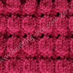 Little Bells Ribbing Free Knitting Stitch
