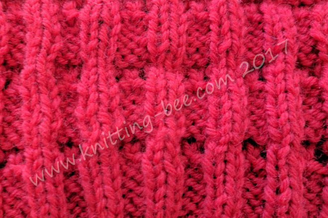 Little Bells Ribbing Free Knitting Stitch by Knitting Bee